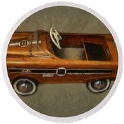 Super Sport Pedal Car Round Beach Towel