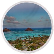 Supermoon Moonrise Round Beach Towel