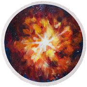 Supernova Explosion Round Beach Towel