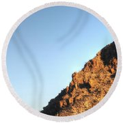Round Beach Towel featuring the photograph Superstition Mountain by Lynn Geoffroy