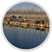 Round Beach Towel featuring the photograph Sur La Mer by Gary Holmes
