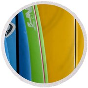 Surf Boards Round Beach Towel