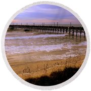 Surf City Pier Round Beach Towel