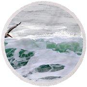 Surf N Pelican Round Beach Towel