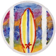 Surfboards 1 Round Beach Towel