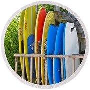 Surfer Dudes II Round Beach Towel