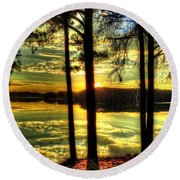 Surreal Lake Round Beach Towel