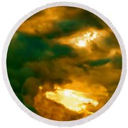 Surreal Sunset Round Beach Towel by Anita Lewis