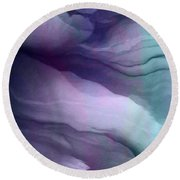 Surrender - Abstract Art Round Beach Towel