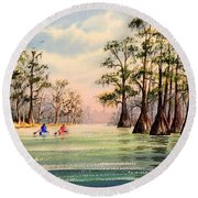 Suwannee River Round Beach Towel
