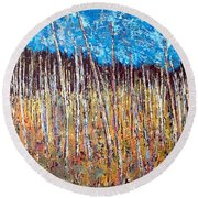 Swamp - Chamcook Nb Round Beach Towel