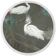 Swampbirds Round Beach Towel