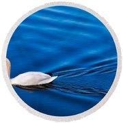 Swan Lake Round Beach Towel