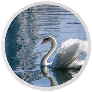 Swan Round Beach Towel by Steven Sparks