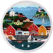 Swan's Cove Round Beach Towel