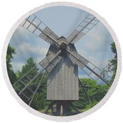 Round Beach Towel featuring the photograph Swedish Old Mill by Sergey Lukashin