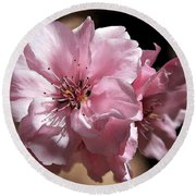Sweet Blossoms Round Beach Towel
