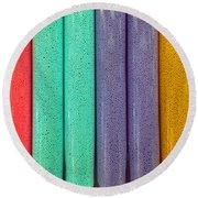 Sweet Colors Round Beach Towel