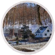 Round Beach Towel featuring the photograph Sweet Country Charm by Liane Wright