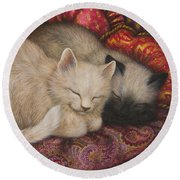 Sweet Dreams Round Beach Towel