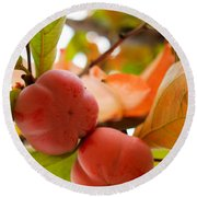 Round Beach Towel featuring the photograph Sweet Fruit by Erika Weber