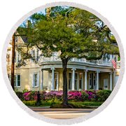 Sweet Home New Orleans Paint Round Beach Towel