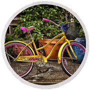 Sweet Ride Round Beach Towel