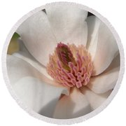 Sweet Star Magnolia Round Beach Towel