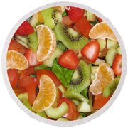 Sweet Yummies Round Beach Towel by Janice Westerberg