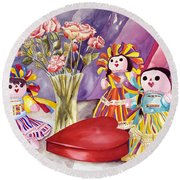 Sweets For The Sweet Round Beach Towel