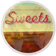 Sweets Round Beach Towel