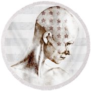 Swimmer Round Beach Towel by Johan Lilja