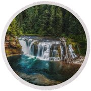 Swimming Hole Round Beach Towel by James Heckt