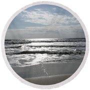 Swirling Sunshine Round Beach Towel