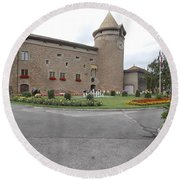 Swiss Castle Round Beach Towel