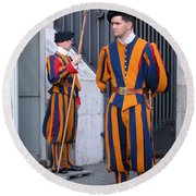 Swiss Guard Round Beach Towel