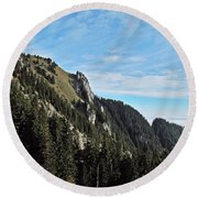 Swiss Sights Round Beach Towel
