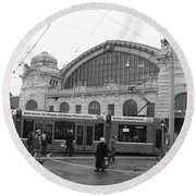 Swiss Railway Station Round Beach Towel