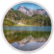 Swiss Tarn Round Beach Towel