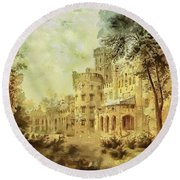 Sybillas Palace Round Beach Towel