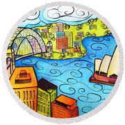 Sydney Harbour  Round Beach Towel