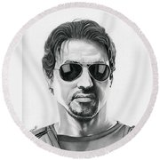 Sylvester Stallone - The Expendables Round Beach Towel