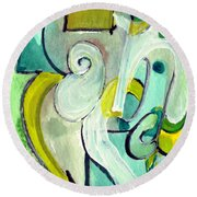 Symphony In Green Round Beach Towel
