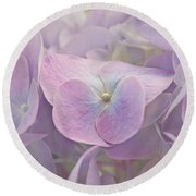 Symphony In Purple Round Beach Towel