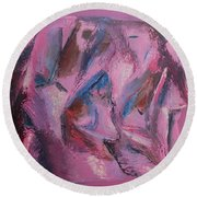 Round Beach Towel featuring the painting Syncopation 5 by Mini Arora