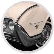 T-bird Fender Round Beach Towel