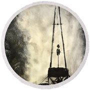 T. D. Round Beach Towel by Shawn Marlow