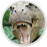 T-rex Round Beach Towel by David Nicholls