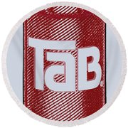 Tab Ode To Andy Warhol Round Beach Towel
