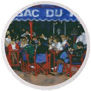 Tabac Du Port Round Beach Towel